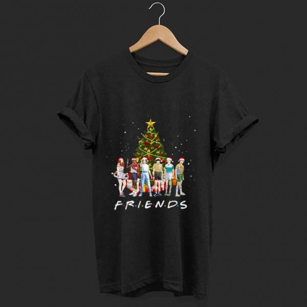 Awesome Stranger Things Characters Friends Christmas Tree shirt