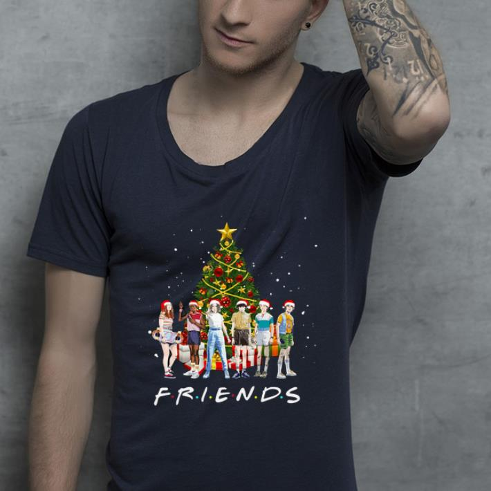 Awesome Stranger Things Characters Friends Christmas Tree shirt 4 - Awesome Stranger Things Characters Friends Christmas Tree shirt