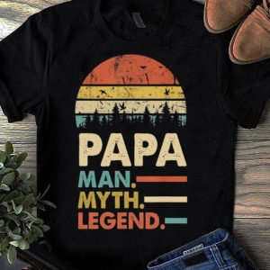 Awesome Sunset Papa Man Myth Legend shirt