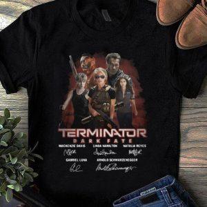 Awesome Terminator Dark Fate Mackenzie Davis Linda Hamilton Natalia Reyes Signature shirt