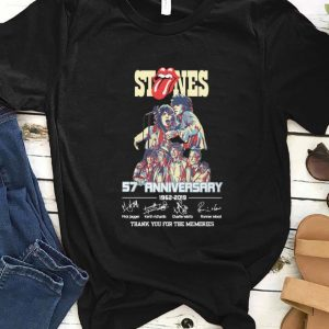 Awesome The Rolling Stones 57th Anniversary 1962-2019 Thank You For The Memories Signatures shirt