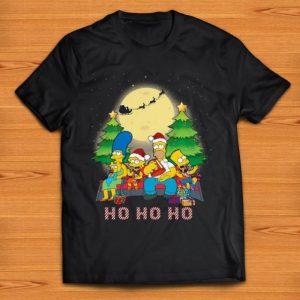 Awesome The Simpsons Family ho ho ho christmas shirt