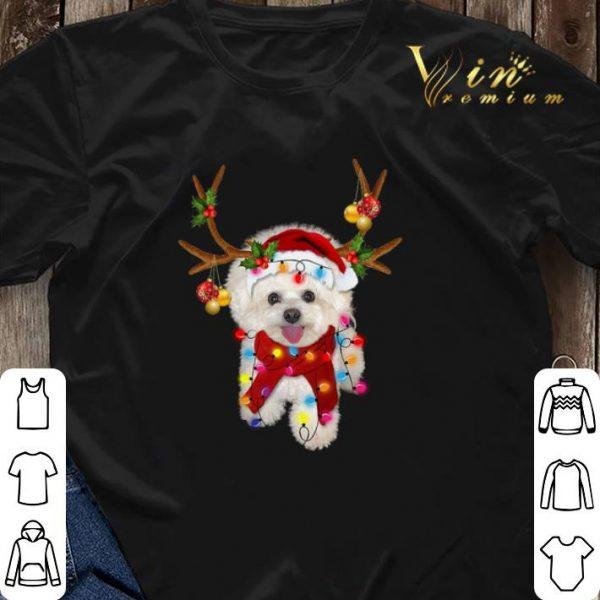 Bichon Frise gorgeous reindeer Christmas shirt sweater