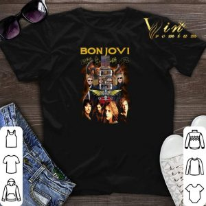 Bon Jovi band signatures guitarist shirt sweater