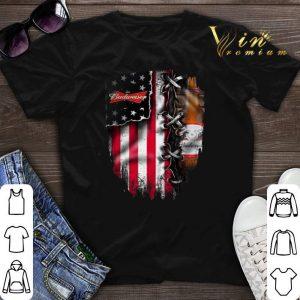 Budweiser inside American flag shirt