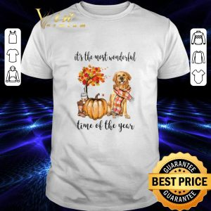 Cheap Golden Retriever it's the most wonderful time of the year Autumn shirt