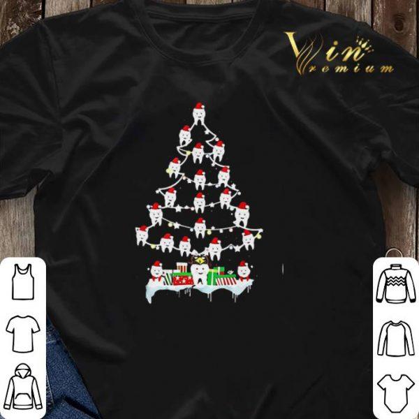 Christmas tree Teeth Santa shirt