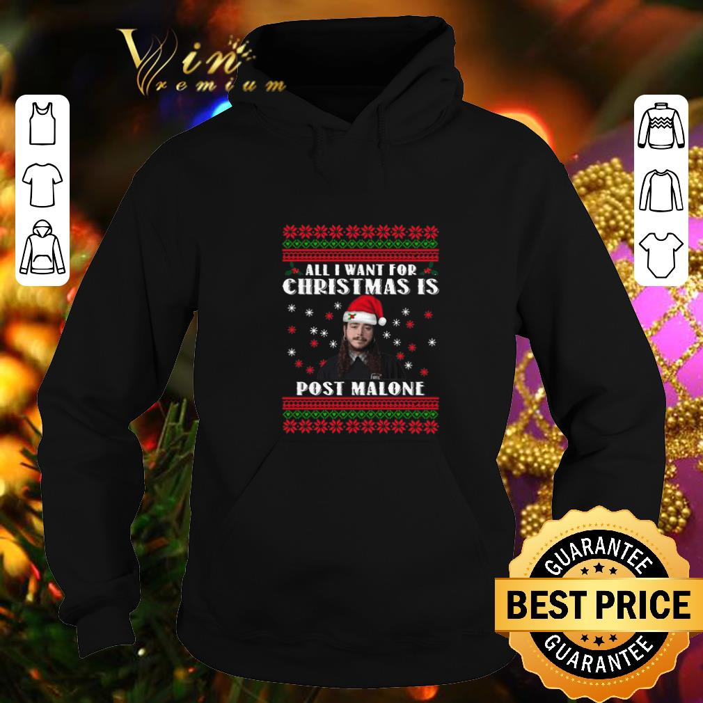 Cool All I want for Christmas is Post Malone ugly shirt 4 - Cool All I want for Christmas is Post Malone ugly shirt