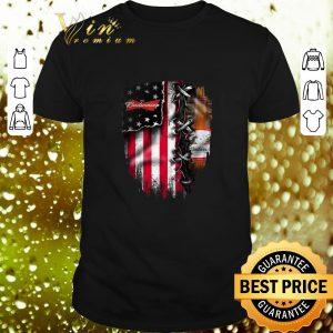 Cool Budweiser inside American flag shirt