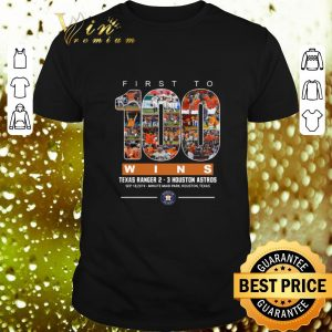 Cool First to 100 wins Texas Ranger Houston Astros shirt