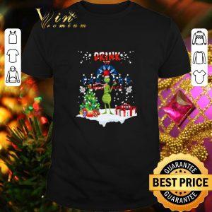 Cool Grinch Drink up Farmers Insurance Christmas shirt