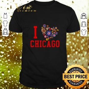 Cool I love Chicago Sports Teams logo shirt