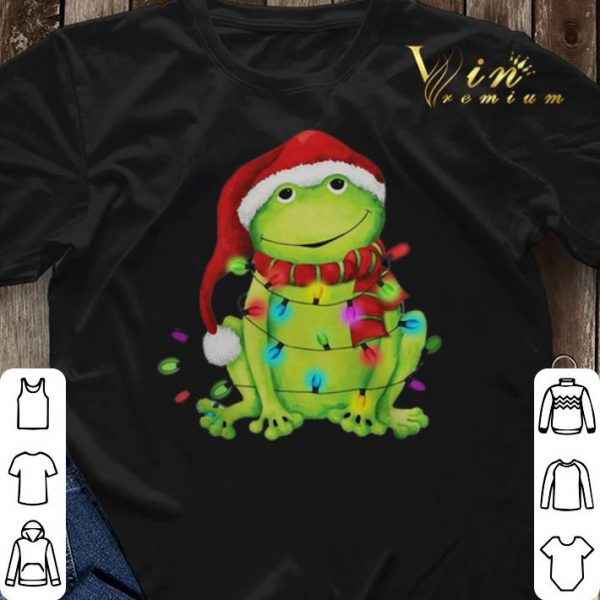 Frog Merry And Bright Christmas shirt sweater