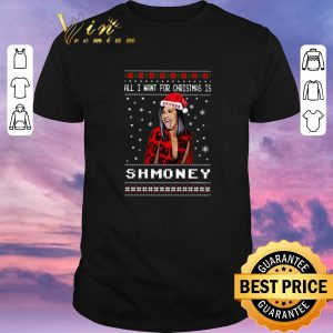 Funny Cardie B All i want for Christmas is Shmoney okurrr shirt sweater