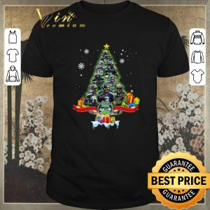 Funny Christmas tree Seattle Seahawks player signatures shirt