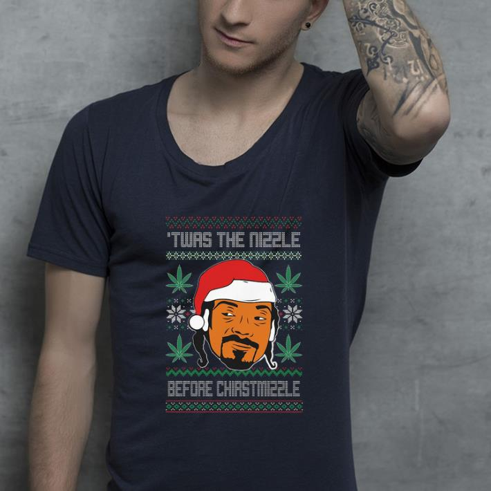 Funny Snoop Dogg Weed Twas The Nizzle Before Christmizzle Ugly Christmas shirt 4 - Funny Snoop Dogg Weed Twas The Nizzle Before Christmizzle Ugly Christmas shirt