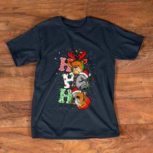 Great Bulldog Santa Ho Ho Ho Christmas shirt