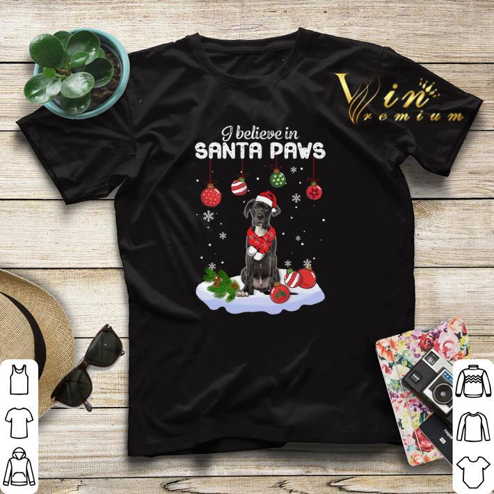 Great Dane i believe in Santa paws Christmas shirt 4 - Great Dane i believe in Santa paws Christmas shirt
