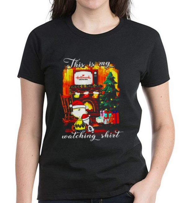 Great Peanuts Snoopy Charlie Brown this is my Hallmark Channel watching shirt