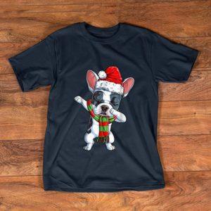 Hot Dabbing French Bulldog Santa Christmas Kids Gifts shirt