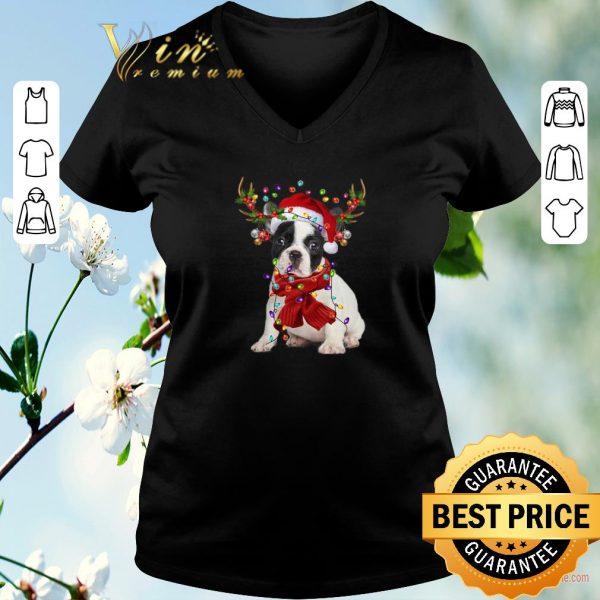 Hot French Bulldog Reindeer Christmas shirt sweater