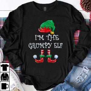 Hot I'm The Grumpy Elf Christmas Matching Family Group shirt