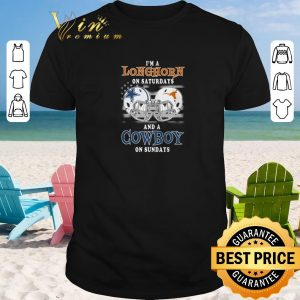 Hot I'm a Texas Longhorns on saturdays and a Dallas Cowboys on sundays shirt sweater 2019