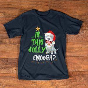 Hot Is this jolly enough Noel Pitbull Dog Red Led Ligh christmas shirt