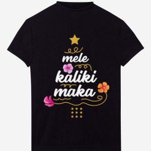 Hot Mele Kalikimaka Christmas Tree Tee Gift Hawaii Xmas Tee shirt