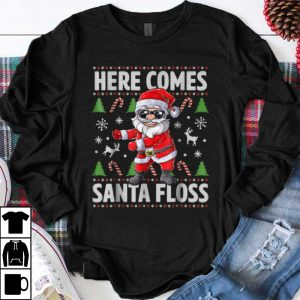 Hot Santa Floss Like a Boss Christmas Boys Kids Flossing shirt