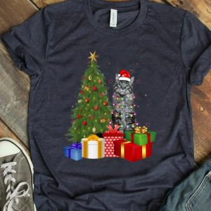 Hot Santa Maine Coon Cat Christmas Tree Light Funny Xmas Cat T-Shirt B07ZGWLQKZ.png