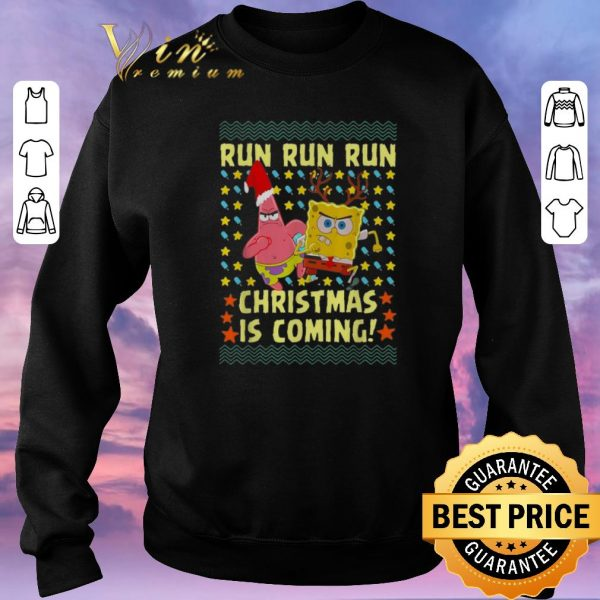Hot Spongebob Patrick Star Christmas is coming shirt sweater