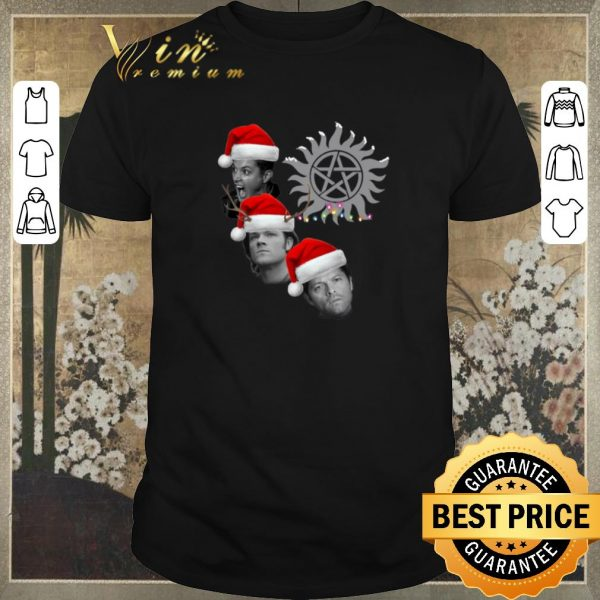Hot Supernatural Winchester Brothers And Castiel Christmas shirt sweater