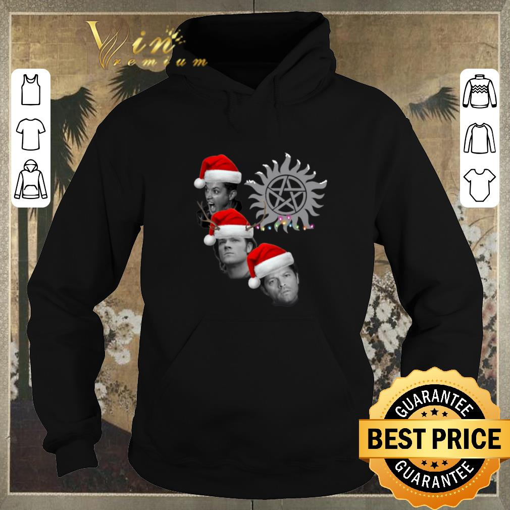 Hot Supernatural Winchester Brothers And Castiel Christmas shirt sweater 4 - Hot Supernatural Winchester Brothers And Castiel Christmas shirt sweater