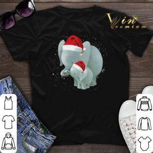 Mama Elephants santa Christmas shirt