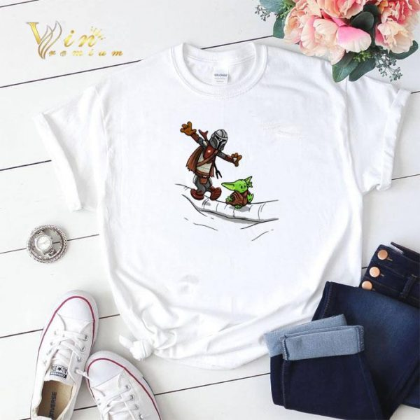 Mando and Baby Yoda Mandalorian shirt sweater