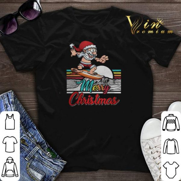 Merry Christmas Surfing Santa Claus Hawaiian shirt