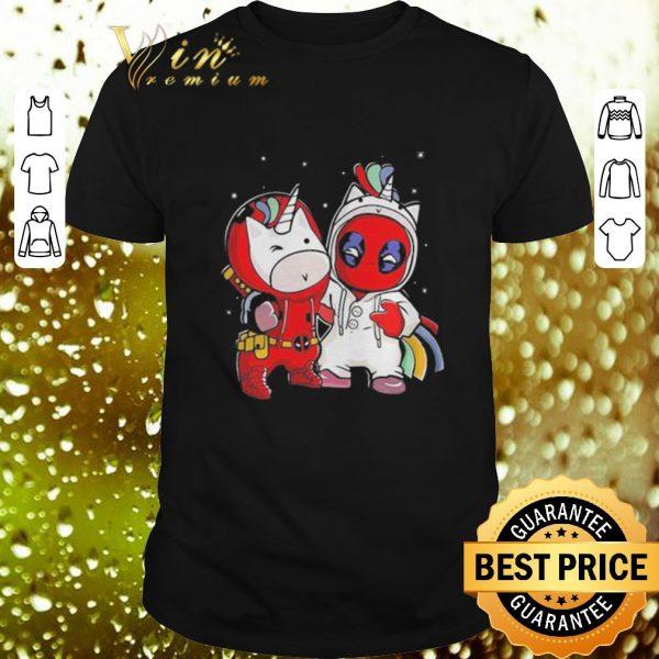 Nice Baby Unicorn and Deadpool shirt