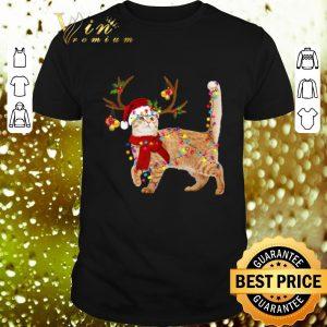 Nice Cat gorgeous reindeer Christmas shirt