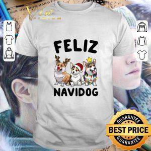 Nice Feliz Navidog Corgi Christmas shirt