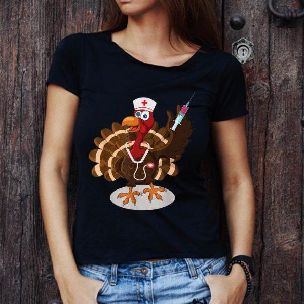 Nice Funny Nurse Turkey Costume Thanksgiving Doctor Gifts shirt