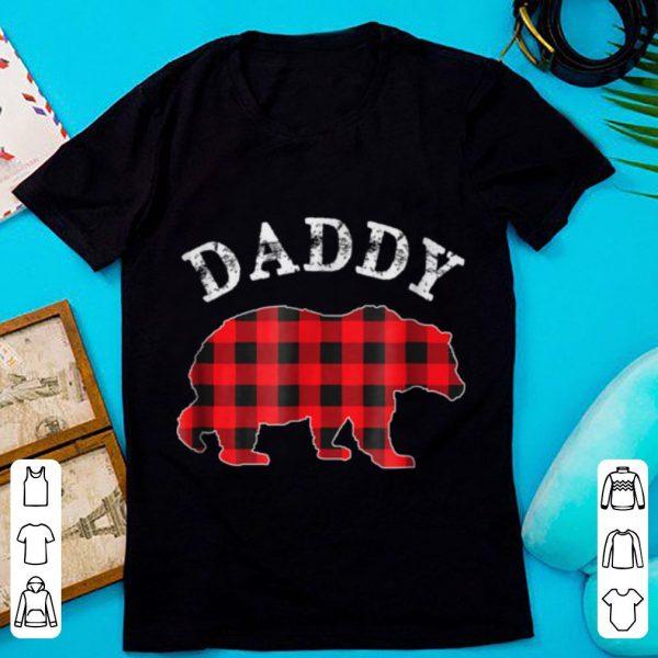 Nice Red Plaid Daddy Bear Matching Buffalo Pajama sweater