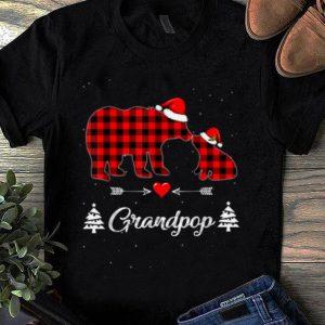 Nice Red Plaid Grandpop Bear Matching Buffalo Pajama Gift shirt