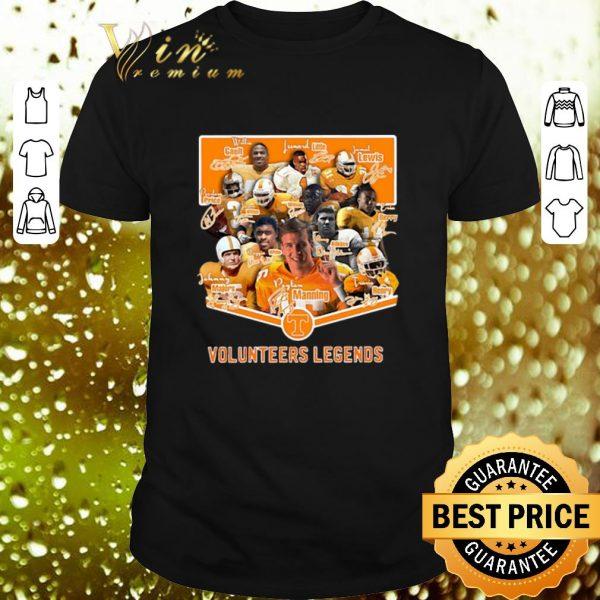 Nice Tennessee Volunteers Legends signatures shirt