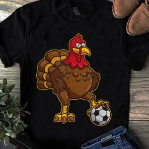 Nice Thanksgiving Soccer Gobble Player Turkey Funny Football Gift shirt