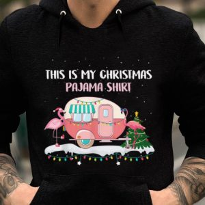 Nice This Is My Christmas Pajama Flamingo Camping RV sweater