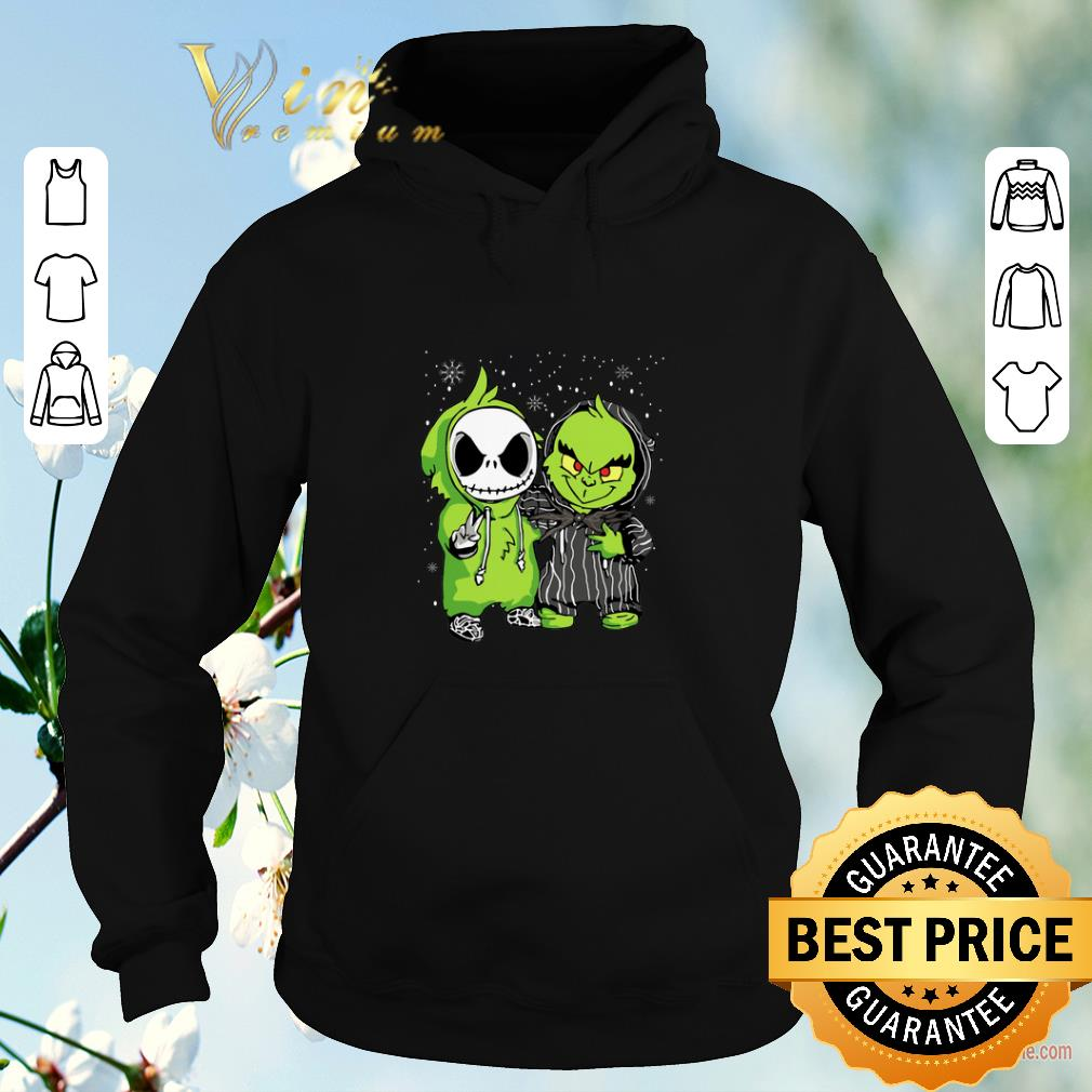 Official Christmas Baby Jack Skellington and Grinch shirt 4 - Official Christmas Baby Jack Skellington and Grinch shirt