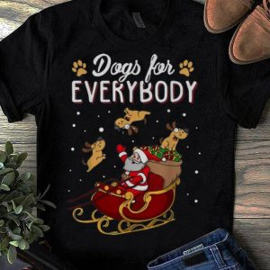 Official Christmas Dogs For Everybody Santa And Dog Reindeer shirt