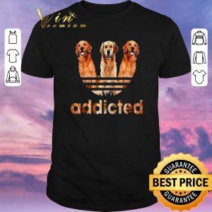Official Golden Retriever addicted adidas shirt sweater
