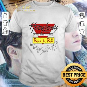 Official Huey Lewis and the news Rock & Roll signatures shirt